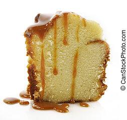 ケーキ, 酸っぱい, スライス, クリーム