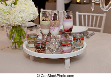 ケーキ, 食物, ケータリング, 結婚式, シャンペン ガラス