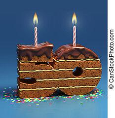 ケーキ, 50, birthday, 数, 形づくられた