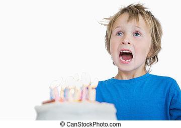 ケーキ, birthday, 小さい 男の子
