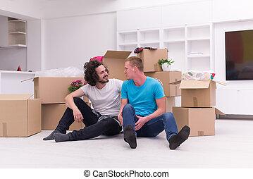 ゲイである, 家, 恋人, 若い, 引っ越し, 新しい