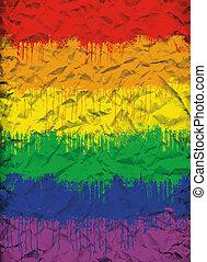 ゲイである, 旗
