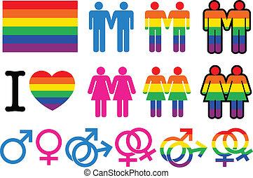 ゲイである, pictogrammes