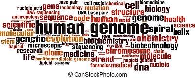 ゲノム, 雲, 単語, 人間