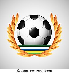 ゲーム, オリンピック, フットボール, 紋章