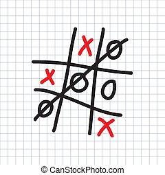 ゲーム, チック tac - 足指