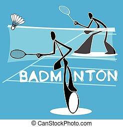 ゲーム, バドミントン, 個人, 機能, スポーツ
