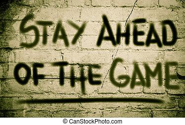 ゲーム, 概念, 前方に, 滞在