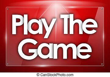 ゲーム, 長方形, 単語, カラードの背景, プレーしなさい