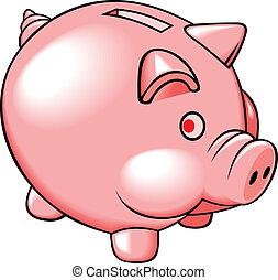 コイン銀行, 豚