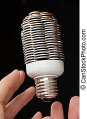 コイン, 概念, 電球, ライト