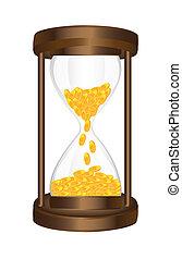 コイン, 砂時計
