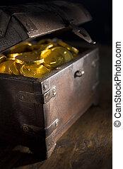 コイン, 胸, フルである, 金