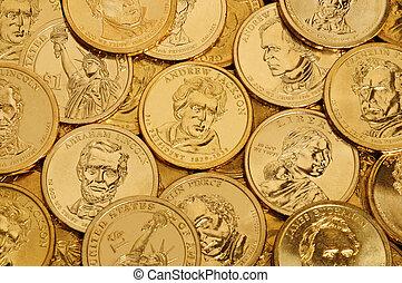 コイン, 金, $1