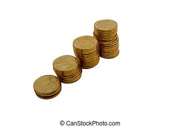 コイン, 2, 分散させる, 黄色