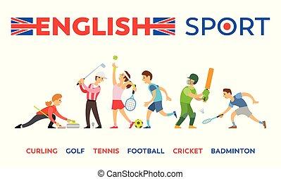 コオロギ, フットボール, ゴルフ, カール, テニス, 英語, スポーツ