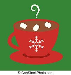 ココア, 暑い, クリスマス, 陽気