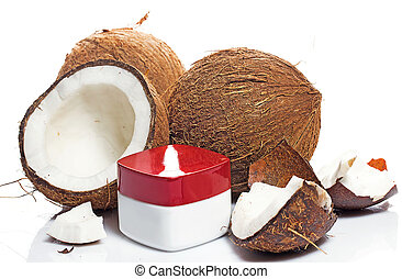 ココナッツ, moisturizer, クリーム