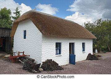 コテッジ, thatched, アイルランド