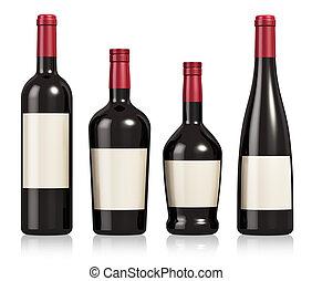 コニャック, セット, びん, ワイン