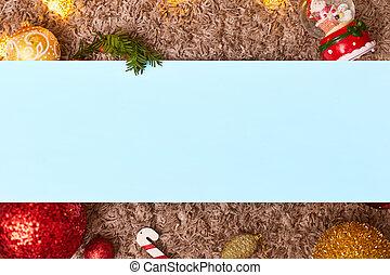 コピー, flatley, おもちゃ, フッター, bokeh, スペース, クリスマス, ヘッダー, フレーム, 青, 葉