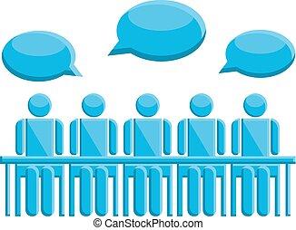 コミュニケーション, シンボル, ミーティングの人々