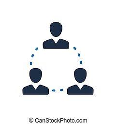 コミュニケーション, チームワーク, ビジネス, アイコン