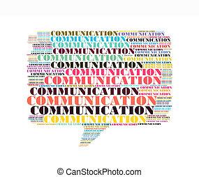 コミュニケーション, テキスト, コラージュ, 作曲された, 中に, ∥, 形, の, callout