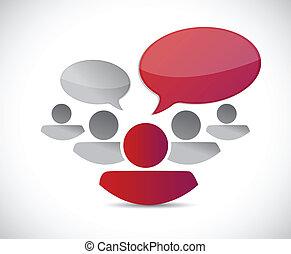 コミュニケーション, デザイン, イラスト, チームワーク