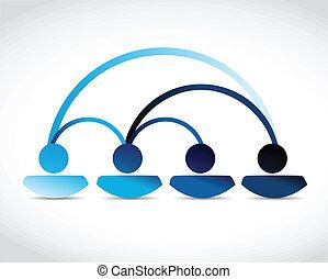 コミュニケーション, ネットワーク, イラスト, 人々