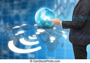 コミュニケーション, ネットワーク, 概念, データ, 社会