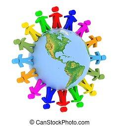 コミュニケーション, 世界的である, concep