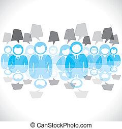 コミュニケーション, 人々, グループ