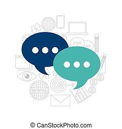 コミュニケーション, 媒体, スピーチ泡, 社会