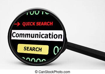 コミュニケーション, 捜索しなさい