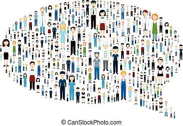 コミュニケーション, 泡, ∥で∥, 人々