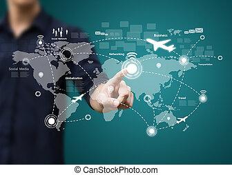 コミュニケーション, 現代, 技術, ネットワーク, 社会