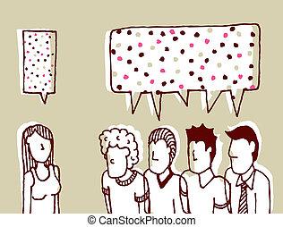 コミュニケーション, 男性, -, /, おしゃべり, 対話, 甘い, 女性