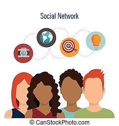 コミュニケーション, 社会, デザイン, ネットワーク, チームワーク