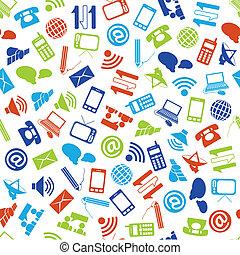 コミュニケーション, seamless, パターン