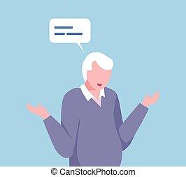 コミュニケートする, スピーチ, ベクトル, イラスト, 困惑させる, 関係, 彼の, 人, ネットワーキング, 泡, ...