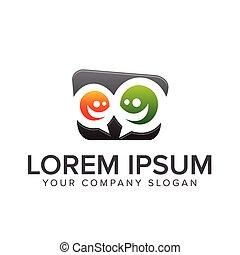 コメント, ロゴ, 人々, チームワーク, コミュニケーション