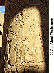 コラム, エジプト, イメージ, 古代, hieroglyphics