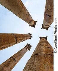 コラム, 寺院, corinthium, artemis, jerash