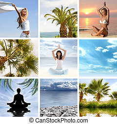 コラージュ, について, 健康, そして, 瞑想