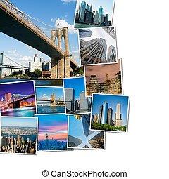 コラージュ, の, ニューヨーク, 写真