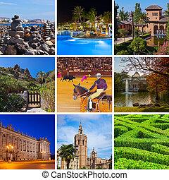 コラージュ, イメージ, スペイン