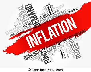 コラージュ, インフレーション, 単語, 雲