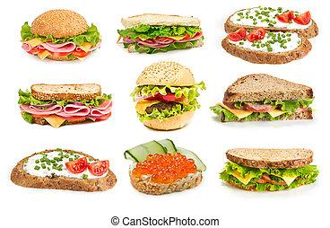 コラージュ, サンドイッチ