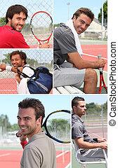 コラージュ, プレーヤー, テニス